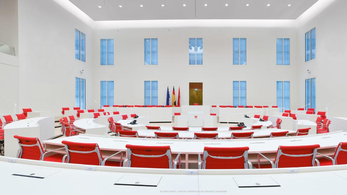 Plenarsaal Landtag Brandenburg